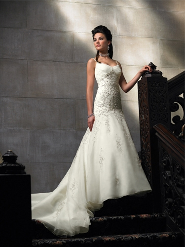 Chery spaghetti Wedding Dresses