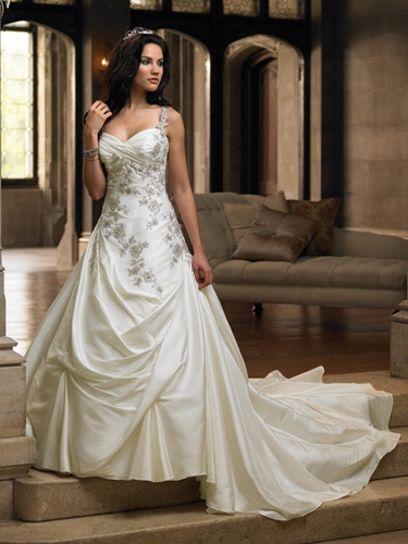 Taffeta sleeveless wedding dresses 2009