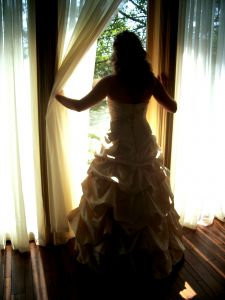 beautiful white wedding gown