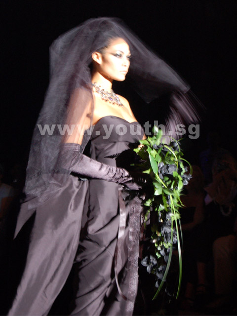 black bridal wedding dress