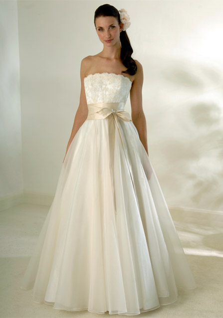 champagne wedding gown
