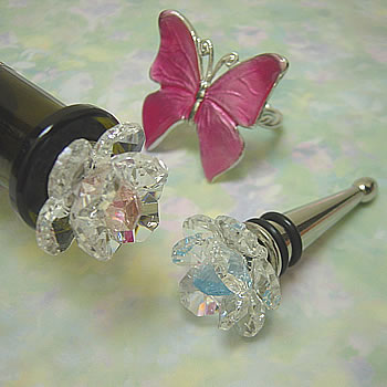 swarovski crystal wine stoppers