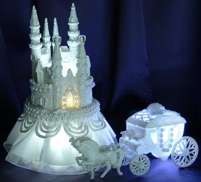 fairy tale wedding theme cake topper
