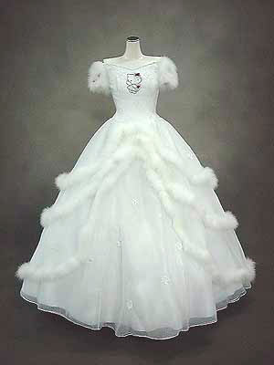 hello kitty wedding gown