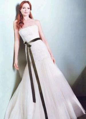 Marcia Cross wedding dress