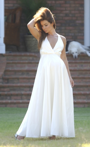 maternity wedding gown