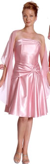 pink bridesmaids gown
