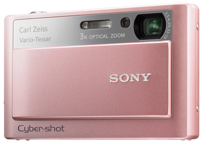 pink sony cyber shot digital camera