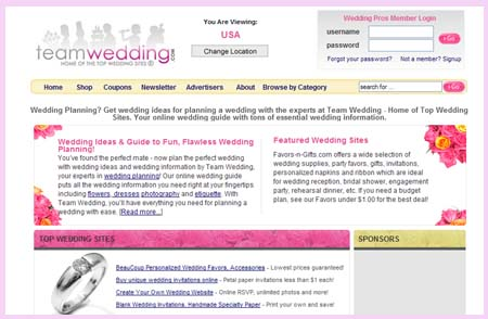 TopWeddingSites.com top 10 wedding sites