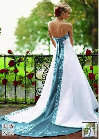 turquoise wedding gown