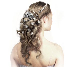 wedding hair style long curly